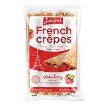 French Natural crêpes X6  stuffed with strawberry (6.8oz/200g)