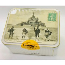 Vintage tin Mt St Michel galettes bretonnes 150g