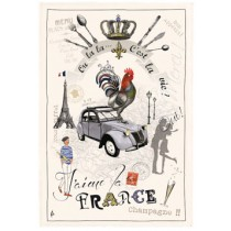 Tea Towel France Panorama by Torchons & Bouchons